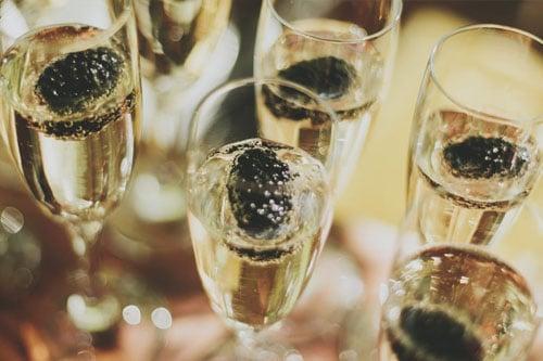 Champagne bedrijfsjubileum