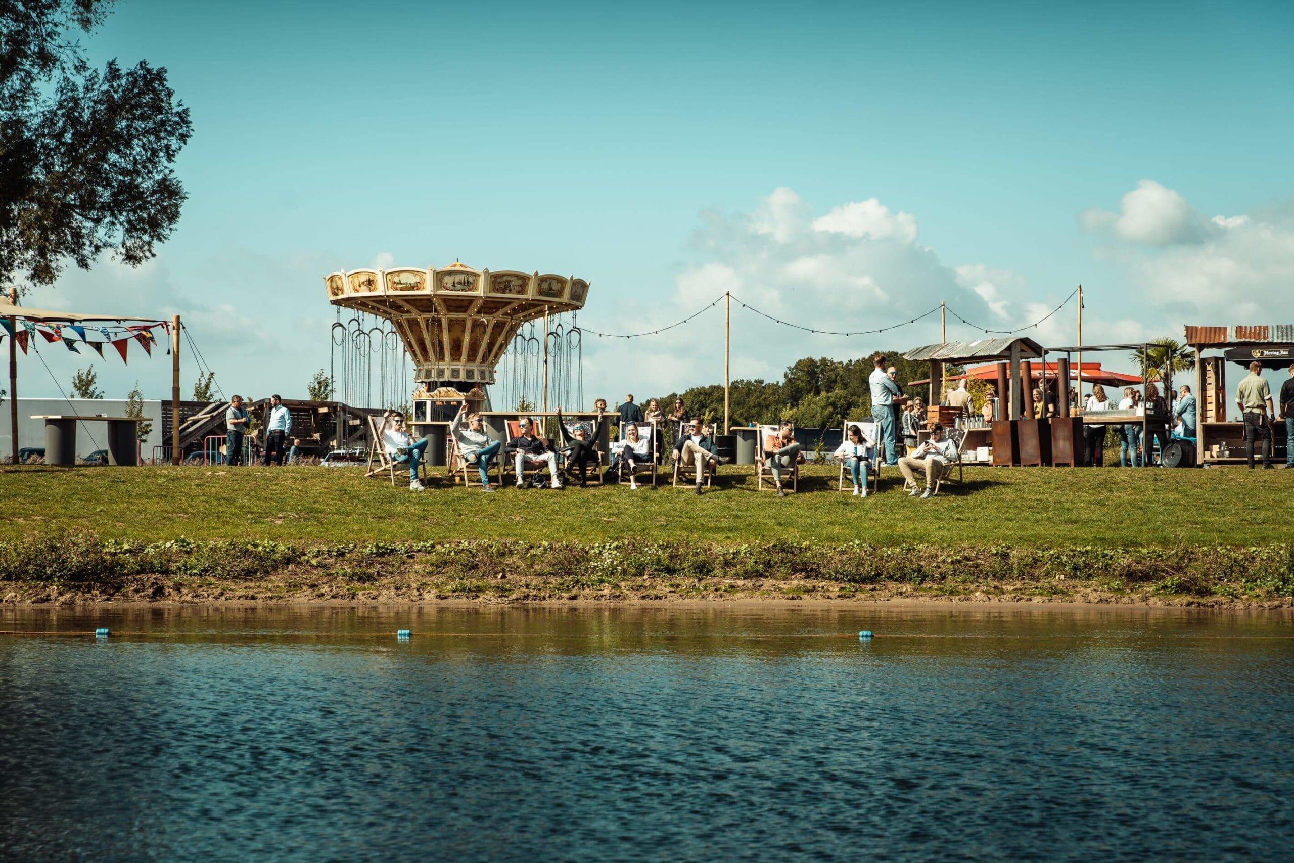 Bedrijfsfestival vanaf het water