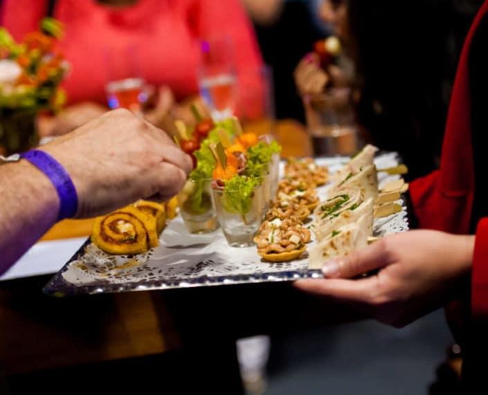 Catering tijdens een relatie evenement